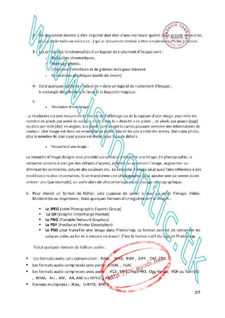 Examen de Passage